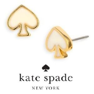 "NWT Kate Spade ""Spade to Spade"" Mini Studs White"